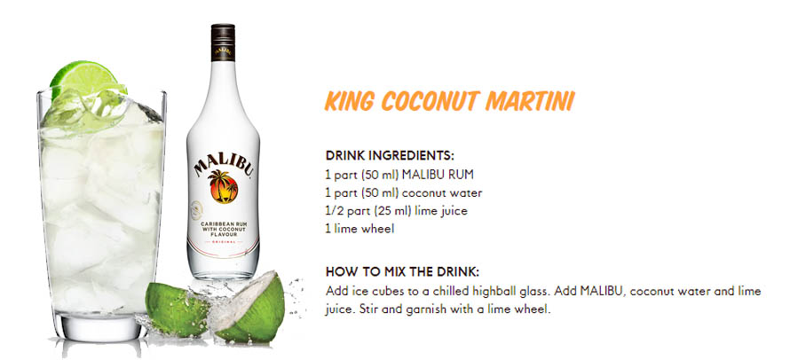 coconut water cocktail